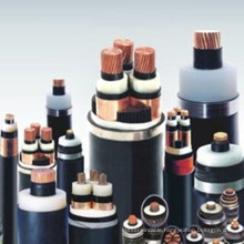 Copper/ aluminum conductor XLPE insulationdual non-magnetic metal tdpe armoures PVCsheath  up to 35KV medium voltage power cable