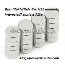 N35M permanent NdFeB disk magnet for generator