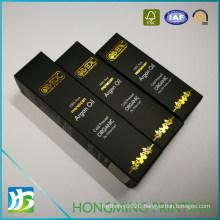 Black Paper Box for Perfume Shampoo Skincare Cream Cosmetics