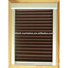 Pleated Skylight blind wooden