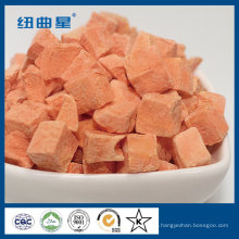 Tiras de zanahoria liofilizadas saludables para cocinar