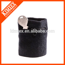 Terry cotton cheap custom wholesale black wrist zipper sweatbands