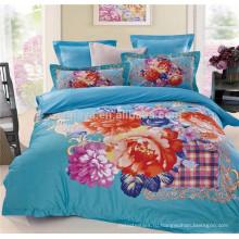 Цветочный размер королевы Утешитель устанавливает 3D постельных принадлежностей Set Design оптовой