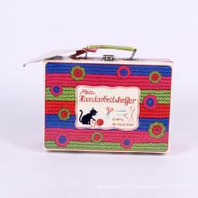 Boîte de conditionnement de papier de cadeau de couleur de valise de fantaisie