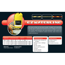"9/16""X 100′ Ez Waterline Ropes for Water Rescue/Camping/Outdoor Activities"