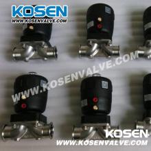 Válvulas de diafragma pneumática de aço inoxidável BS (G641)
