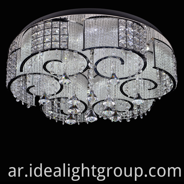 Chrome Metal Chandelier