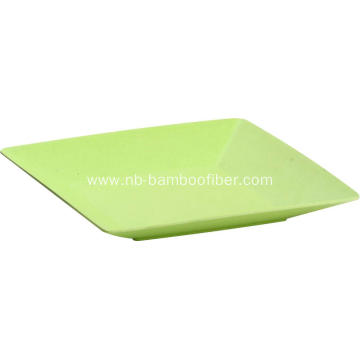 Eco-friendly Middle Bamboo Square Plate