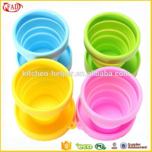 Caneca de café de silicone / copo dobrável de silicone dobrável / copo retrátil