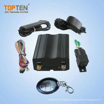 Perseguidor de GPS do alarme do carro da G / M Smartphone e acionador de partida de motor remoto (TK103-KW)