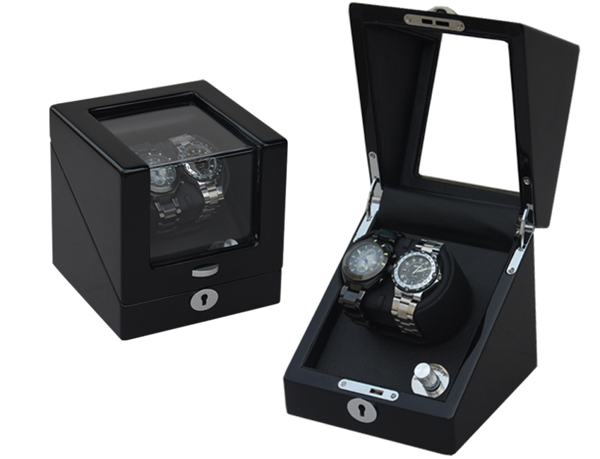 Ww 8096 Black Watch Winder Storage 2 Watches