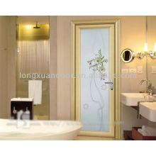 Modern Design Bathroom Door,Aluminium Door with Glass Design
