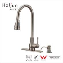 Haijun 2017 La nueva cubierta de la llegada montó el mezclador del fregadero de la cocina de ahorro de agua grifos de los golpecitos