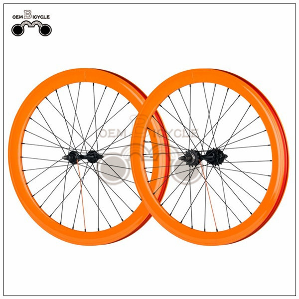700C 40mm fix double-walled aluminum wheelset6