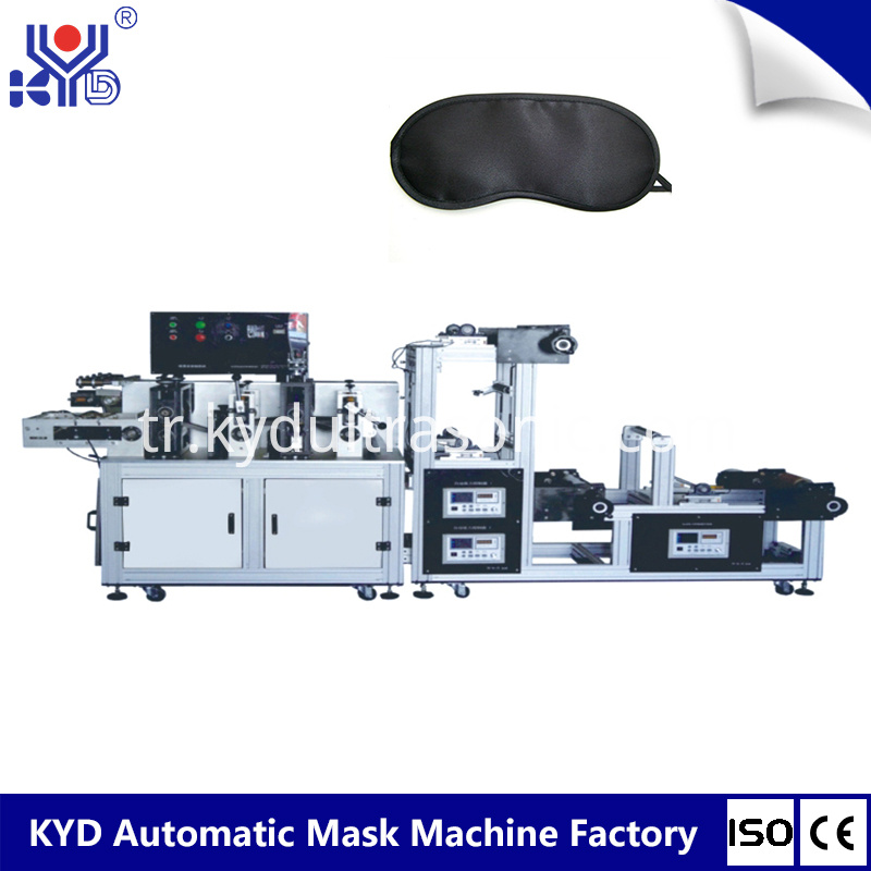 Airline sleeping eyes mask body making machine