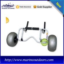 Melhor venda sentar no carrinho de caiaque superior com rodas de balão de praia
