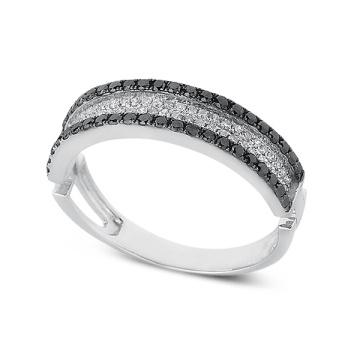 Черное и белое золото Серебряное кольцо Ювелирные изделия Свадебный подарок