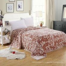 Одеяло из 100% полиэстера из фланели с принтом