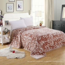100% polyester flannel blanket with print