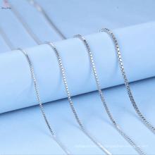 Benutzerdefinierte 1,5 mm Box Sterling Silber 925 Halskette Kette