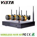4ch Waterproof  H.264 Wifi Wireless Ip Camera NVR Kits