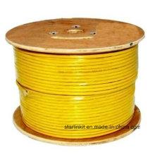 Câble Ethernet en vrac STP blindé CAT6 à grande vitesse 305 m Jaune