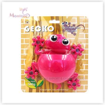 Bathroom Accessories Kids Animal Toothbrush Holder with Sucker (gecko-shaped)