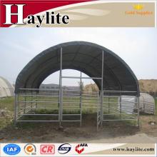 Abris animal préfabriqué portatif de vache de cheval de tissu économique de PVC avec le certificat de la CE