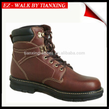 8 inchs leather work boots
