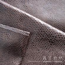 Бронзированием полиэстер кожа Главная текстильная ткань
