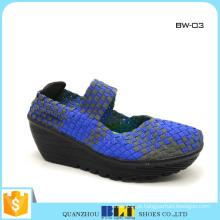 Venda quente sapatos tecidos para atacado