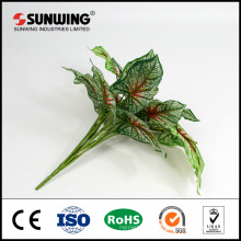high quality green plastic artificial leaves bundle for home decoration
