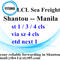Shantou LCL Consolidation Freight Agents nach Manila
