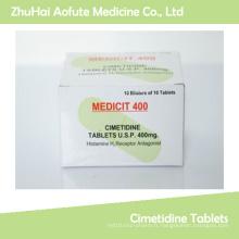 Comprimés / pilules médicamenteuses de haute qualité pour la cimétidine