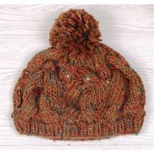 Сделано на заказ Модная трикотажная дамская шляпа с мехом Помпомом