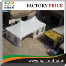 Guangzhou Factory Preis High Point Doppel-Top-Spannung Stil mittelalterlichen Zelt Pro für 30 Personen