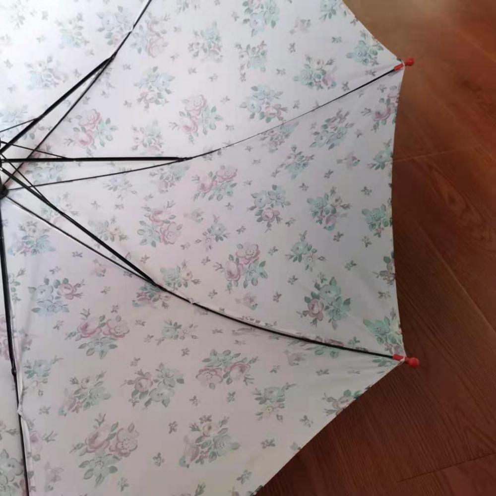 "21 ""Half Fiber Three Fold Hand Open Umbrella"