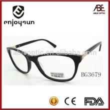 2015 negro color mens acetato gafas ópticas marco gafas