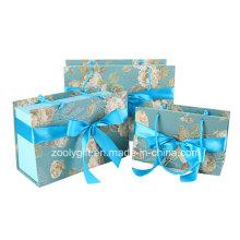 Бумажные подарочные коробки с подарочной бумагой с индивидуальным дизайном Сумки с бантом ленты