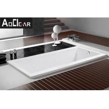 Aokeliya high quality sunken bathtub affordable price drop-in bathtubs coated with fiber glass for soaking