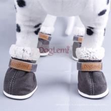 Botte d'hiver de vente chaude pour chien pas cher chaud chaussures pour animaux de compagnie