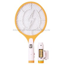 ZHOUYU 2*AA operated battery mosquito swatter with torch