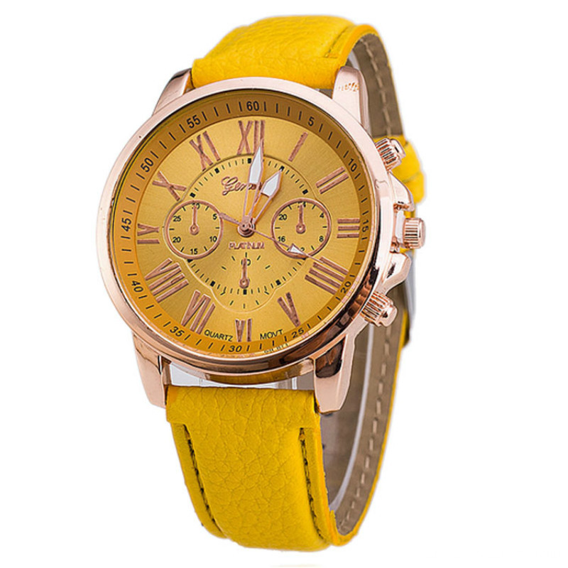 New Design Girls Classic Leather Band Quartz Watch