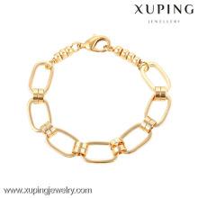 74162- Xuping Fashional Jewelry Pulsera de enlace de diseño simple