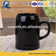 Tasse en grès cérame personnalisé lait noir prix usine avec poignée