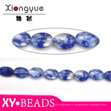 Joyau saphir naturel Perles en pierre et bijoux