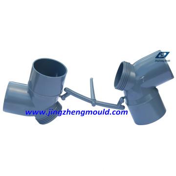 Molde do encaixe de tubulação do cotovelo do PVC 63mm com aço 2316