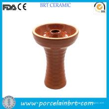 Solo diseño de cerámica Shisha Brown Hookah