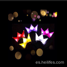 La luz del LED embroma los juguetes Crown Headwear