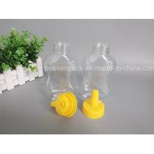 Garrafa de mel de plástico de pet de alta qualidade com tampão Nozzel (PPC-PHB-83)